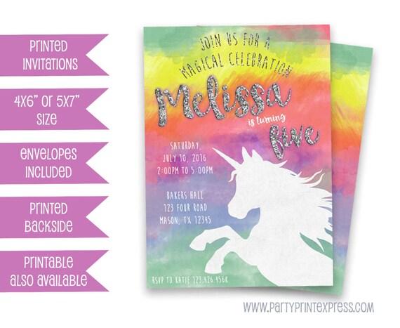 Rainbow unicorn invitation unicorn birthday invitations girl il570xn filmwisefo