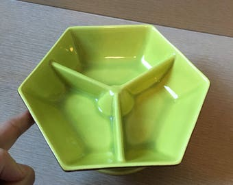 Vintage - Roatating or Spinning -  Brandt's California Pottery Snack Dish Rockwood #109