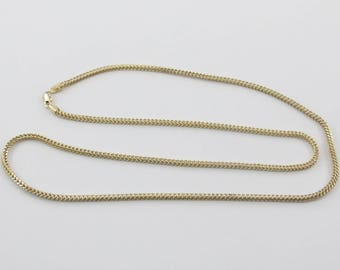 "14k Yellow Gold Franco Link Men's Chain Necklace 24"" 9.1 grams"