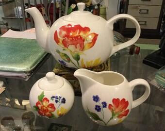 Teapot-Sugar Bowl- and Milk Jug