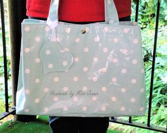 Handbag – Oilcloth Bag – Beach Bag – Purse – Oilcloth Tote Bag – Tote – Diaper Bag – Gift for Mum - Oilcloth Tote  - Baby Shower