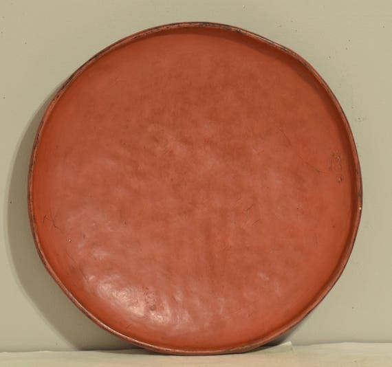 Tray Thailand Red Orange Lacquer Offering Tray Handmade Tree Sap Buddhist Shrines Temples Offering Tray Red Orange Tray