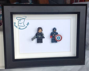 Captain America and Winter Soldier Lego style figures