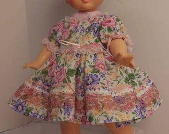 "Pink Floral Dress Set for 15"" Horsman Ruthie Dolls"