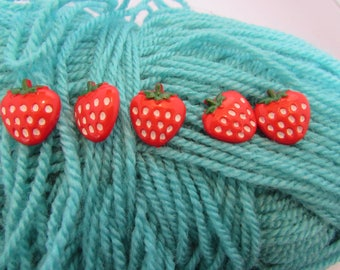 Strawberry Shaped Buttons