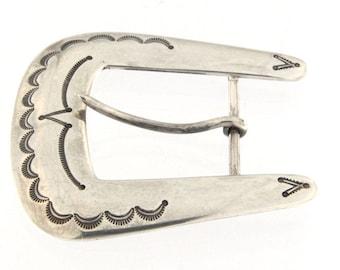 Sterling Silver Western Belt Buckle