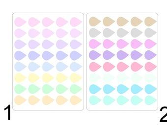 Dew Drop stickers pastel