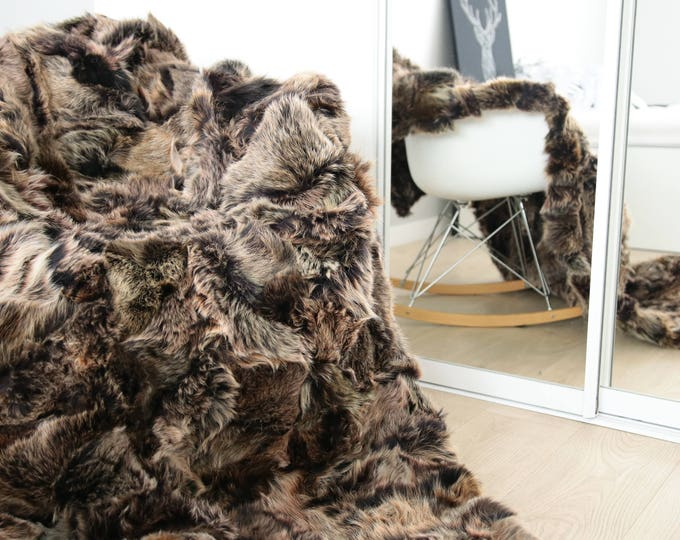 Exclusive Toscana Sheepskin Real Fur Throw | Real Fur Blanket