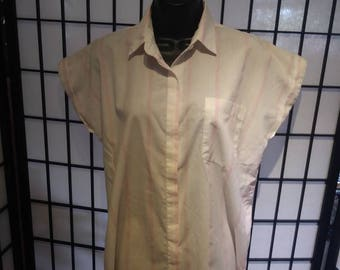 80s button up style tee