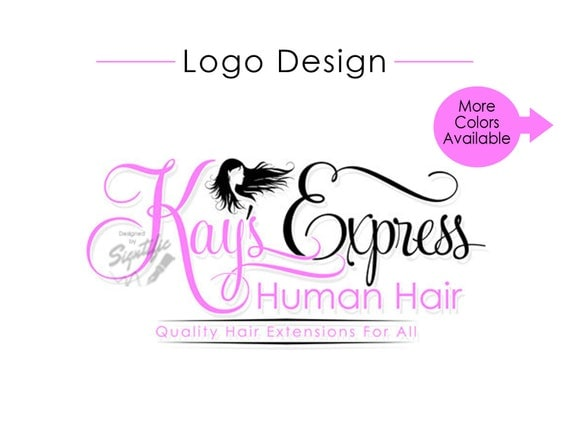 Hair Tag Logo, Hair Silhouette Logo Design, Hair Extensions Logo, Hair Salon Logo Design, Premade Logo, Business Logo, Virgin Hair Logo