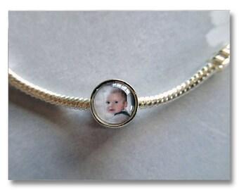 Custom Bead Photo Charm for Pandora & European Bracelets/Necklaces