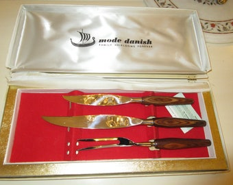 ENGLAND SHEFFIELD MODA Danish Knife Carving Set