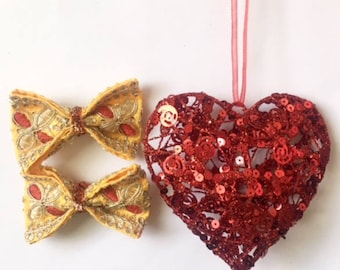 Valentines bow/yellow bow/toddler bow/newborn bow/girl accessories/ gifts for her/bow headband