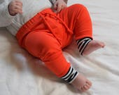 Clearance baby leggings BRIGHT ORANGE