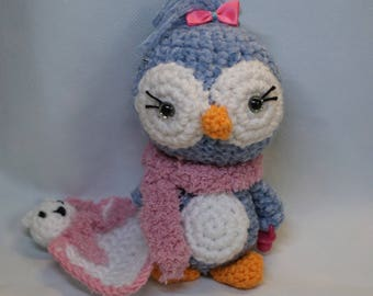 Penguin amigurumi handmade crochet