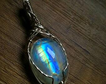 Fairy rainbow moonstone