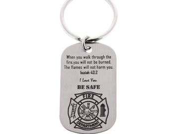 Firefighter Gift, Firefighter Keychain, Fireman, Gift for Firefighter, Lieutenant, Firefighter Wife, Custom Keychain, Firefighter Gifts