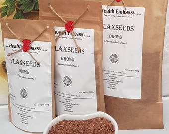 Flaxseeds Brown (Linum usitatissimum) - Health Embassy - Organic
