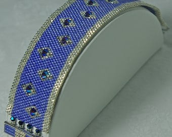 Blue and Silver Swarovski Bracelet