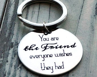 You are the Friend Everyone Wishes They Had Personalized Key Chain - Engraved