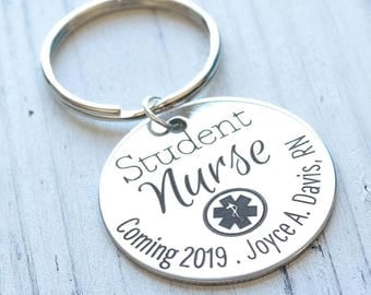 Student Nurse Personalized Key Chain - Engraved