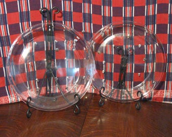 Vintage Pyrex #210 Set of Two Pie Plates  Ten Inch Glass Pie Plates