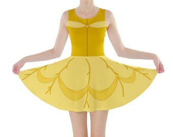 READY-to-SHIP XL Adult Beauty and the Beast Belle Inspired Skater Dress