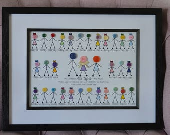 Large Button Family/Class Frame