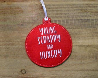 Young Scrappy and Hungry Ornament Hamilton