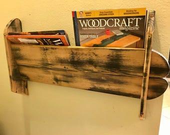 Pallet Wood Magazine Holder