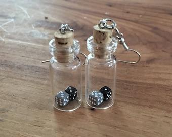 Tiny Gambler Earrings