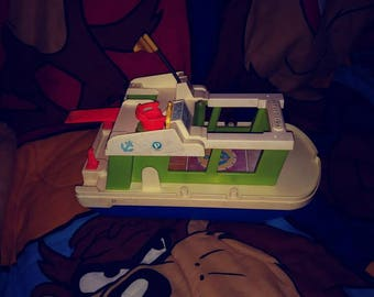 Vintage Fisher Price Boat Play Family