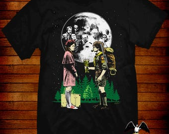 Moonrise Kingdom T-shirt artwork by Jared Swart inspired by the film by Wes Anderson