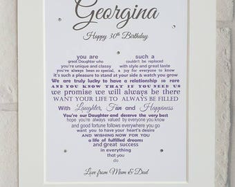 Daughter 20th Birthday, Daughter 30th Birthday Gift, Daughter 40th Birthday gift, Daughter 50th Gift, Daughter 60th Gift