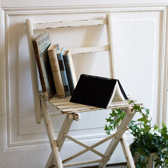 Chippy White French Folding Chair