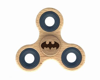 Batman Fidget Spinner - Wooden Hand Spinner - Figit Toy - Edc Spinner - best fidget spinner toy - stress relief toy - Cool Gift for Kids