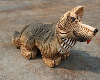 Burl Ives Personal Estate Artensania Rinconada German Shepherd Figurine #109
