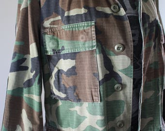 Authentic Vintage Camo Army Jacket