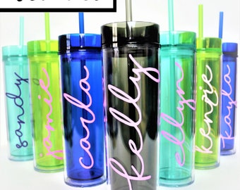 Set of 15 Personalized Tumblers // Bridesmaid Tumbler // Girls Weekend Tumbler // Beach Cup // Bachelorette Party // Personalized Tumbler