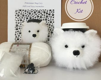Crocket Starter Kit - Amigurumi Kit - Crochet Pattern Dog - Crochet Kit - Crochet Gifts - Crochet Dog Pattern - Dog Crochet Pattern