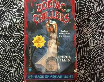 RAGE OF AQUARIUS (Zodiac Chillers #1 Young Adult Novel by Carol Ellis)