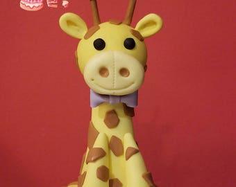 Giraffe Fondant Cake Topper (MADE TO ORDER)