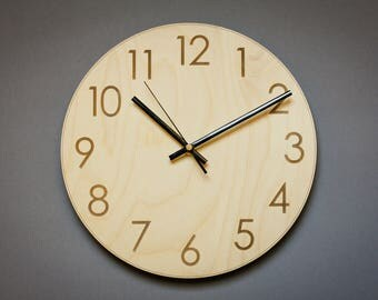 Charming Ideas Large Rustic Clock. Wood wall clock  Silent Wooden Rustic large numbers clocks Etsy