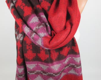 Blanket Scarf Outdoor Gift Tribal Scarf Warm Scarf Ethnic Scarf Bohemian Scarf Fall Winter Scarf Women Accessories Christmas Gift For Her
