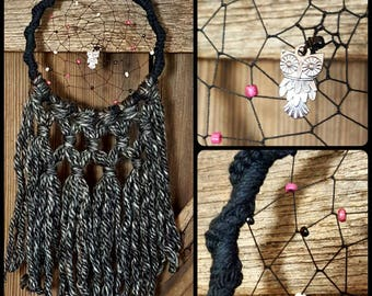 """Owl See You in My Dreams (5x13"""") Boho DreamCatcher"""
