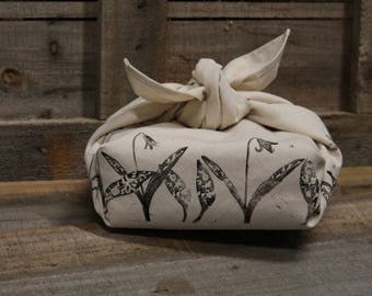 Floral Furoshiki Wrapping Cloth, Trout Lilies