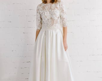Wedding cover ups scarves etsy bridal lace top wedding top bridal separates lace wedding top wedding separates junglespirit Images