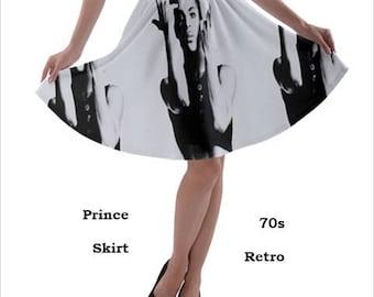 Prince Skirt, skirt, 70s, Prince, glam rock, music, 80s music, 70s music, rock, fashion