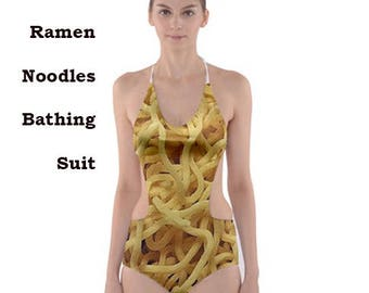 Ramen  swim suit, beachwear, beach,noodles, japanese, ramen, food, fun, funny