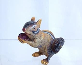 Chipmunk Toy Model Vintage Solid Little Model for Pretend Play or Diorama Retired Model Cute Forest Creature Tame Chipmunk Squirrel Family